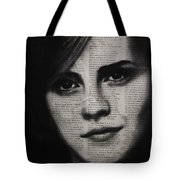 Art In The News 17-emma Watson Tote Bag