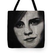 Art In The News 17-emma Watson Tote Bag