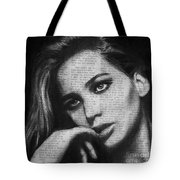 Art In The News 36- Jennifer Lawrence Tote Bag