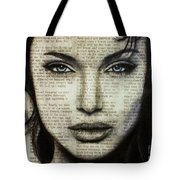 Art In The News 44- Angelina Jolie Tote Bag