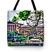 Art Museum Leaves Tote Bag