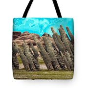 Art No.1900 American Landscape Cactus Stone Mountains And Skyview By Navinjoshi Artist Toronto Canad Tote Bag