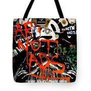Art Not Ads Tote Bag