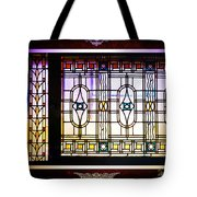 Art-nouveau Stained Glass Window Tote Bag