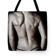 Art Of A Woman's Back Muscles  Tote Bag