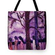 Art Purple Rain Tote Bag
