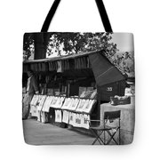 Art Seller On The Left Bank - Paris People Series Tote Bag by Georgia Fowler