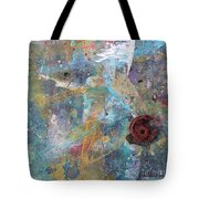 Art Table With Dried Paint Tote Bag