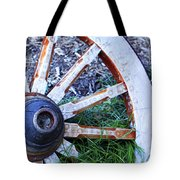 Artful Wagon Wheel Tote Bag