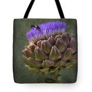 Artichoke Bloom And Bee Dip Tote Bag