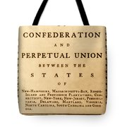 Articles Of Confederation, 1777 Tote Bag