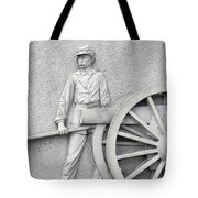 Artillery Detail On Monument Tote Bag