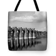 Artisan Lakes Bridge 1bw Tote Bag
