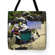 Artist At Work In Seaview - Isle Of Wight Tote Bag