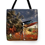 Artist Concept Of The Roswell Incident Tote Bag