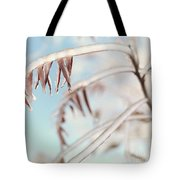 Artistic Abstract Closeup Of Frozen Tree Branches Tote Bag