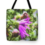 Artistic Aster In First Snow Fall 2 Imp 2-2 Tote Bag