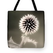 Artistic Black And White Flower Tote Bag