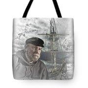 Artistic Digital Image Of An Old Sea Captain Tote Bag