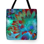 Artistic Flowers Tote Bag