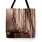 Artistic Hanging Basket Of Petunias Tote Bag