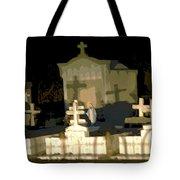 Louisiana Midnight Cemetery Lacombe Tote Bag