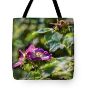 Artistic Painterly Two Dogroses Summer 2014. Tote Bag