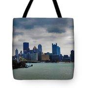 Artistic Pittsburgh Skyline Tote Bag
