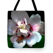 Artistic Shades Of Light And Pollinating Bee Tote Bag