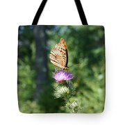 Artistic Butterfly Stand  Tote Bag