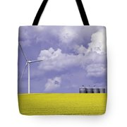 Artists Choice Wind Turbine And Canola Tote Bag