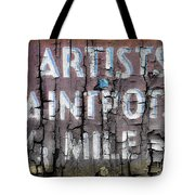 Artists' Paintpots Sign Tote Bag