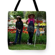 Artists Posing For Papparazzi II Tote Bag