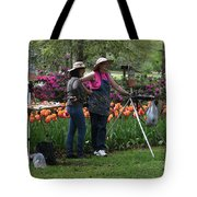 Artists Posing For Papparazzi Tote Bag
