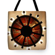 Arts And Crafts Chandelier At Summit Inn Tote Bag