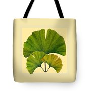 Arts And Crafts Movement Ginko Leaves Tote Bag