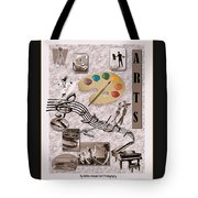 Arts Collage Tote Bag