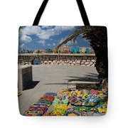 Artwork At Street Market In Curacao Tote Bag