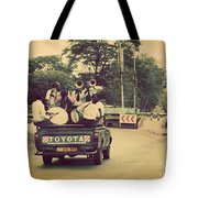 Arusha. Tanzania. Africa. A Group Of Young Men Celebrating Their Graduation Tote Bag