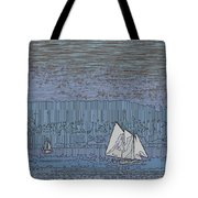 As Dusk Sets Over The Sound Tote Bag