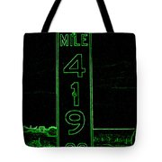 As Pure As It Gets In Green Neon Tote Bag