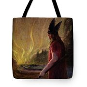 As The Flames Rise Odin Leaves Tote Bag