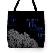 As The Heavens Tote Bag
