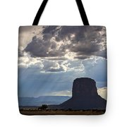 As The Storm Moves In Tote Bag