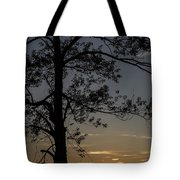 As The Sun Fades Behind The Mountian Tote Bag
