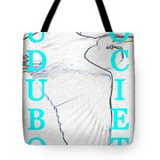As Turquoise Text Tote Bag