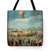 Ascent Of A Balloon In The Presence Of The Court Of Charles Iv Tote Bag