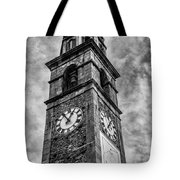 Ascona Clock Tower Bw Tote Bag