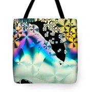Ascorbic Acid Crystals In Polarized Light Tote Bag