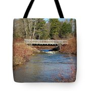 Ash Brook And Bridge Tote Bag